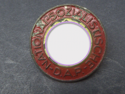 Party badge of the NSDAP - painted - manufacturer RZM M9 / 312