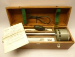 Russian psychrometer with accessories in a wooden box from 1976